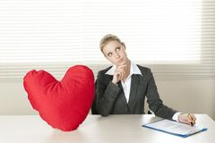 Valentine's day in the office Royalty Free Stock Photos