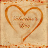 Valentine\'s day on old paper Royalty Free Stock Image