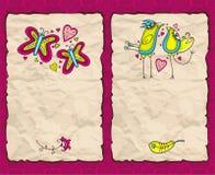 Valentine's day paper backgrounds. Valentine's day vintage paper backgrounds Royalty Free Stock Photos