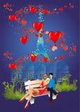 Valentine`s Day in Paris, Stock Photo