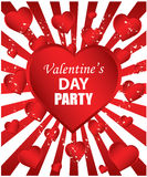 Valentine's day party. Invitation to the Valentine's day party Stock Photography