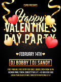 Valentine`s Day Party celebration Invitation Card. Royalty Free Stock Images