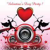 Valentine's Day party design Stock Images