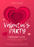 Valentine's Day Party Flyer. Royalty Free Stock Photography