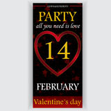Valentine's day party flyer Royalty Free Stock Photos