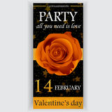 Valentine's day party flyer Royalty Free Stock Photo