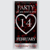 Valentine's day party flyer Stock Images