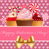 Valentine's day pastry and sweets. Vector illustration Stock Photography