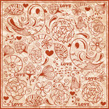Valentine's Day  Pattern Royalty Free Stock Photo