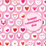 Valentine's Day pattern Stock Image