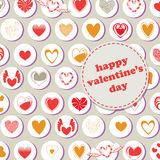 Valentine's Day pattern Royalty Free Stock Photography