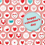 Valentine's Day pattern Royalty Free Stock Image