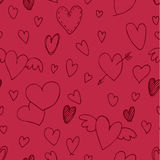 Valentine`s day pattern with heart. Stock Photography