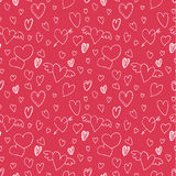 Valentine`s day pattern with heart. Royalty Free Stock Image