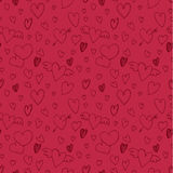 Valentine`s day pattern with heart. Royalty Free Stock Photos