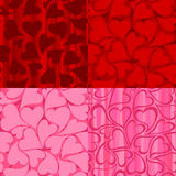 Valentine's day Patterns Stock Photos