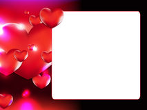 Valentine`s Day photo frame. Vector illustration stock illustration