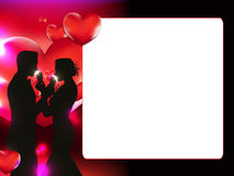 Valentine`s Day photo frame Stock Images