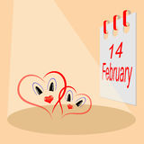 Valentine`s Day, the picture. Vector illustration Royalty Free Stock Images