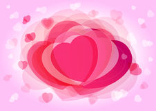 Valentine`s day pink background. Happy Valentine's Day elegant card isolated hearts. Special offer Valentines Day Sale greetings template and beautiful Stock Image