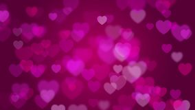 Valentine`s day pink background stock footage