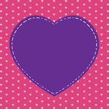 Valentine's Day and pink heart on pink background. Big pink heart on holiday. Royalty Free Stock Photo