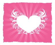 Valentine's Day pink heart postcard Royalty Free Stock Photos