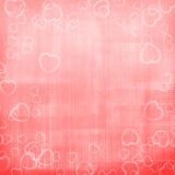 Valentine's day pink hearts background Stock Photos