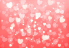 Valentine's day pink hearts background Stock Photo