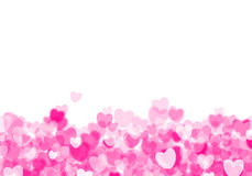 Valentine's day pink hearts background Stock Photography