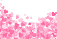 Valentine's day pink hearts background Royalty Free Stock Images