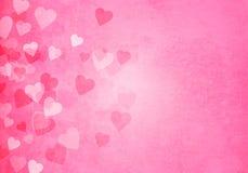 Valentine's day pink hearts background stock illustration