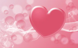 Valentine's day pink tones background with hearts Stock Photos