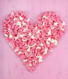 Valentine's Day pink and white jelly candy Royalty Free Stock Images