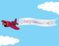 Valentine´s Day Plane Stock Photography