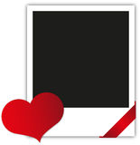 Valentine's day polaroid Royalty Free Stock Photos