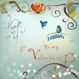 Valentine's Day post card Royalty Free Stock Photo