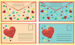 Valentine's Day post cards Royalty Free Stock Photo