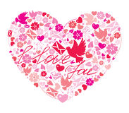 Valentine`s Day postcard Royalty Free Stock Photography