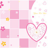 Valentine's day postcard Stock Images