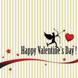 Valentine's day postcard Royalty Free Stock Photo