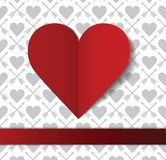 Valentine's day postcard. This is file of EPS10 format Royalty Free Stock Photo
