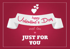 Valentine s Day Postcard Stock Images
