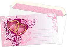 Valentine's Day Postcard Stock Image