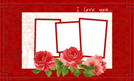 Valentine's Day Postcard. Royalty Free Stock Image