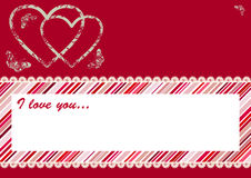 Valentine's Day Postcard. Royalty Free Stock Images