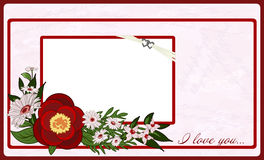 Valentine's Day Postcard. Royalty Free Stock Photos