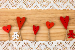 Valentine's Day postcard. Wedding Stock Photography