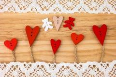 Valentine's Day postcard. Wedding Stock Photography