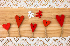 Valentine's Day postcard. Wedding Royalty Free Stock Images